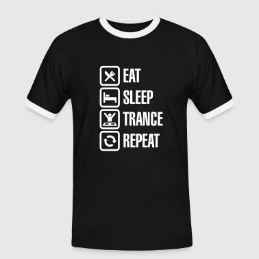 Eat Sleep Trance Repeat - Miesten kontrastipaita