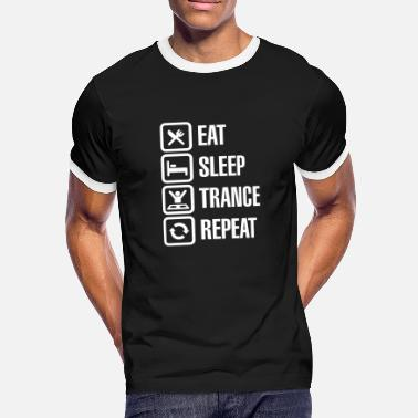 Trance Eat Sleep Trance Repeat - Mannen contrastshirt