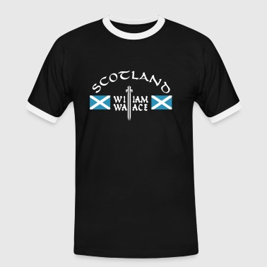 Scotland William Wallace - Männer Kontrast-T-Shirt