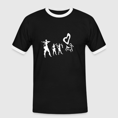 Into the arms ... - T-shirt contrasté Homme