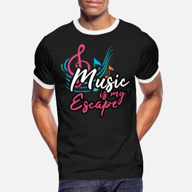 Escape Music sounds Music style Listening colorful notes Party disco - Men's Ringer T-Shirt