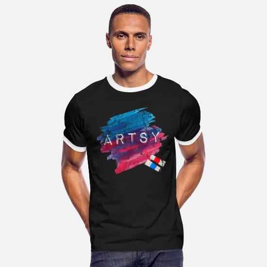 Symbol  T-Shirts - art - Men's Ringer T-Shirt black/white