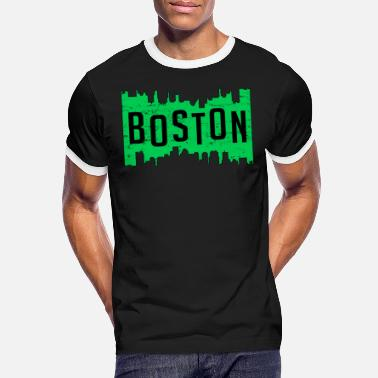 Boston Marathon Boston USA Boston Marathon gåva säger cool - Kontrast T-shirt herr