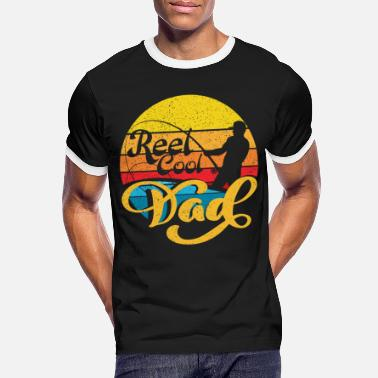 Great Reel Cool Dad Fathers Day Dad - Men's Ringer T-Shirt