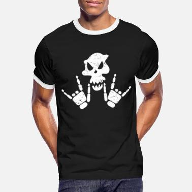 Bones Rock N Roll Rock n Roll Skeleton - Men's Ringer T-Shirt