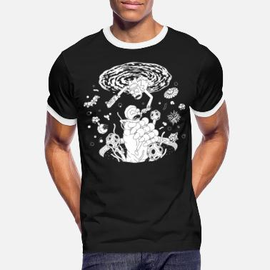 Rick And Morty Space Portal - Men's Ringer T-Shirt