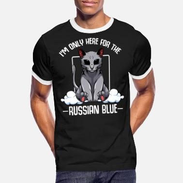 I'm Only Here For The Russian Blue Kawaii Cats - Men's Ringer T-Shirt