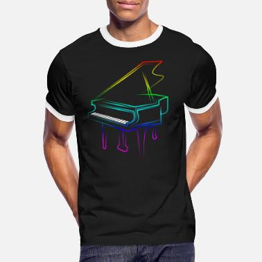 Piano piano - T-shirt contrasté Homme
