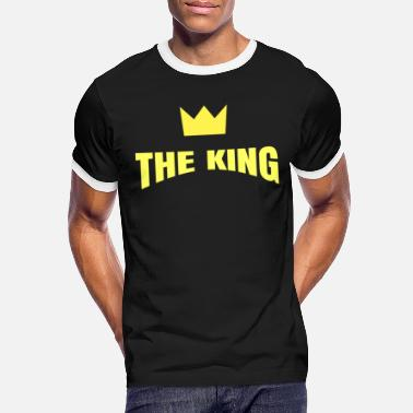 Theking The King with Crown - Men's Ringer T-Shirt