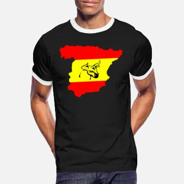 Spain with a bull - Men's Ringer T-Shirt