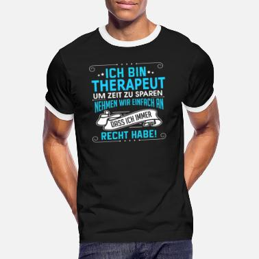 Therapeut THERAPEUT - Männer Ringer T-Shirt