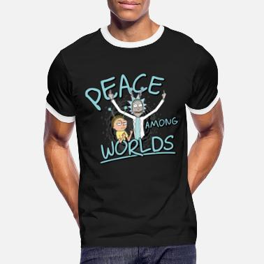 Rick & Morty Peace Among Worlds - Mannen ringer T-shirt