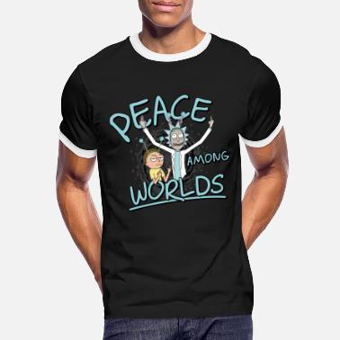 Rick & Morty Peace Among Worlds - Men's Ringer T-Shirt