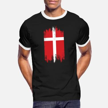 Scandinavian Country Flag Scandinavian Patriotic Danish - Kontrast T-skjorte for menn