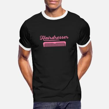 Haircut Hairdresser haircut hairdresser haircut - Men's Ringer T-Shirt