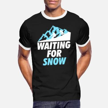 Waiting Ski Skivakantie Waiting White - Mannen ringer T-shirt