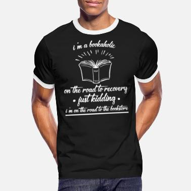 Book - Books - Gift - Book fan - Read - Men's Ringer T-Shirt