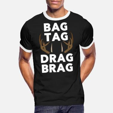 Brage Bag Tag Drag Brag - Kontrast T-skjorte for menn