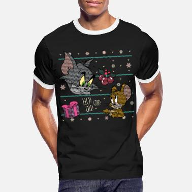 Tom und Jerry Ugly X-Mas Ho! Oh! Oh! - Männer Ringer T-Shirt