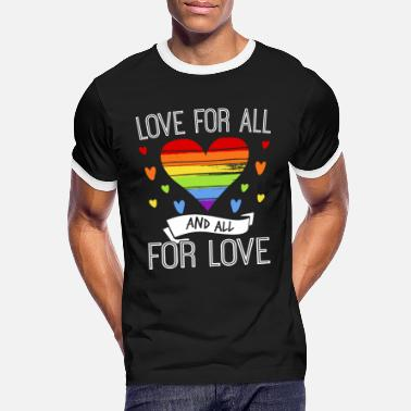 Regenbogenfahne Love For All And All For Love - Männer Ringer T-Shirt