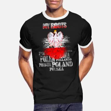 Patriotic Polska Poland My Roots - Men's Ringer T-Shirt
