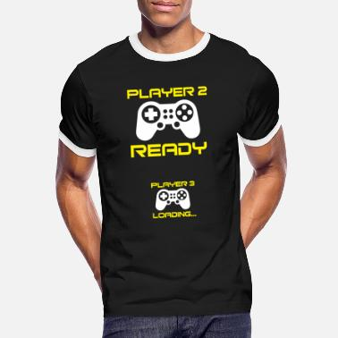 Player Player 2 ready, Player 3 loading - Pregnant Shirt - Men's Ringer T-Shirt