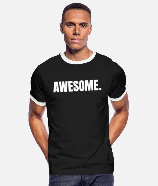 Awesome T-Shirts - Horny unbelievable gift - Men's Ringer T-Shirt black/white