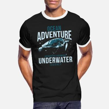 Matchless Turtle underwater travel - Men's Ringer T-Shirt