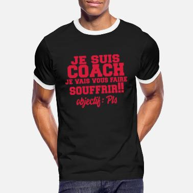 Fitness coach,coaching,sport,humour,citations,formes - T-shirt contrasté Homme