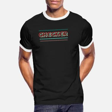 Checkers Checker - Men's Ringer T-Shirt