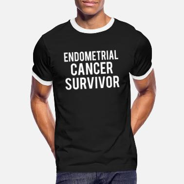 Endometrial Cancer Poison Endometrial Cancer: Endometrial Cancer Survivor - Men's Ringer T-Shirt