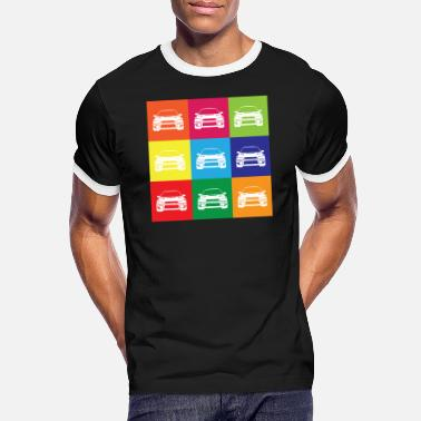 Multi Coloured Multi Colour Impreza - Men's Ringer T-Shirt