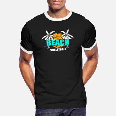 Beach Volleyball Beach volleyball beach volleyballer holiday - Men's Ringer T-Shirt