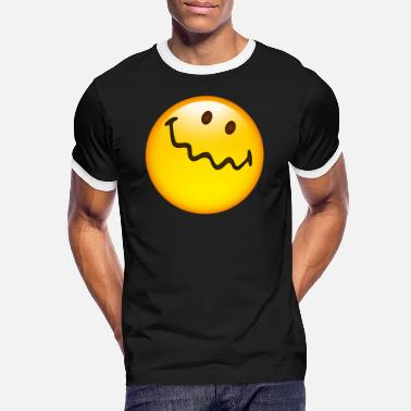 Uncertain Smiley Glossy Uncertain - Men's Ringer T-Shirt