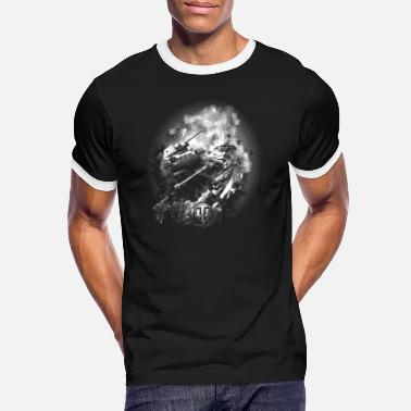 World Of Tanks World of Tanks Champ de bataille BW Homme tee shir - Camiseta contraste hombre