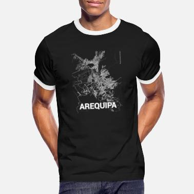Arequipa Arequipa city map and streets - Men's Ringer T-Shirt