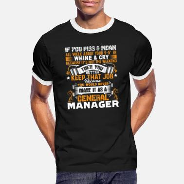 General General Manager Stolt General Manager - Kontrast T-shirt herr