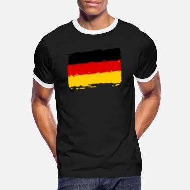 German Flag Deutschland Flagge - German flag - Männer Ringer T-Shirt