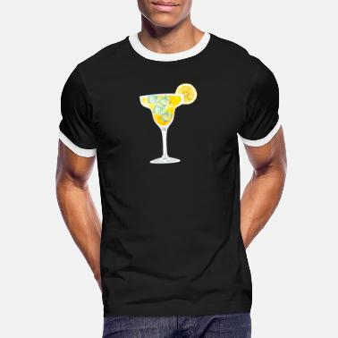 Orange Liqueur Frozen margarita cocktail design for - Men's Ringer T-Shirt