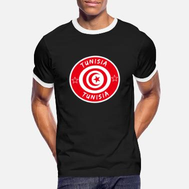 Sousse Tunisia circle with national flag gift Tunis - Men's Ringer T-Shirt
