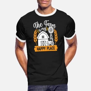 Acker The Farm Is My Happy Place - Men's Ringer T-Shirt