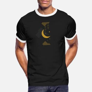 Half Moon Ramadan Kareem Muslim holy month ilustration - Men's Ringer T-Shirt