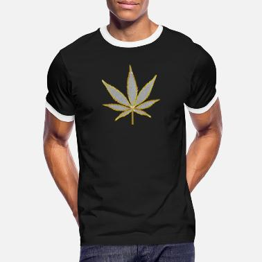Bling Hemp leaf jewelry pendant Bling Bling poster - Men's Ringer T-Shirt