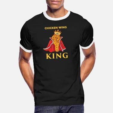 Chicken Wing King Fast Food Gift - Men's Ringer T-Shirt