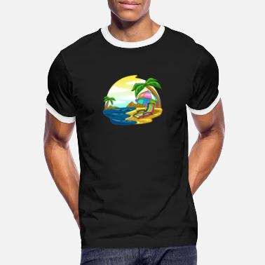 Pensionist Beach sea vacation pension retirement gift - Men's Ringer T-Shirt