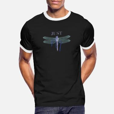 Just Fly Just Fly - DRAGONFLY Blue mint - Kontrast T-shirt herr
