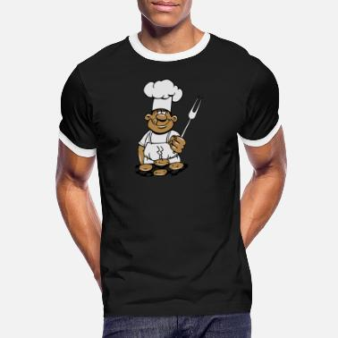 Cuire Au Barbecue barbecue cuire cuisine barbecue - T-shirt contrasté Homme