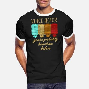 Microphone Voice Actor Podcast Presenter - Men's Ringer T-Shirt