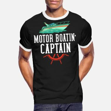Motor Boat Motor boat motor boating speed boat racing boat - Men's Ringer T-Shirt