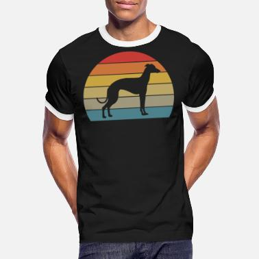 Hazewind Retro Greyhound Dog Love Motif I Honden Cadeau - Mannen ringer T-shirt
